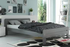 Široká posteľ DALLASO 120x200cm GRAFIT