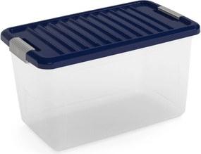 KIS W BOX M 30L 49x30x29cm transparent/modrá indigo