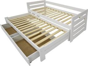 FA Detská posteľ Veronika 11 (200x90 cm) s prístelkou - viac farieb Farba: Orech, Variant bariéra: S bariérou