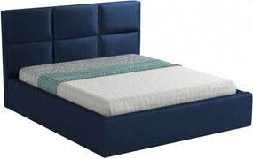 Hector Čalouněná postel Farida 160x200 dvoulůžko - námořnická modř
