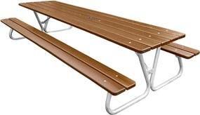 Záhradný stôl s lavicami Hallon, 2900x600x1300 mm