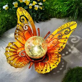 Solárna dekorácia Farfalla, žltá