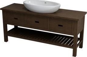 SAPHO BRAND umývadlová skrinka 160x73x50cm , morený smrek