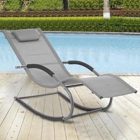 Záhradné relaxačné lehátko AVENBERG MERIDA - Sivá