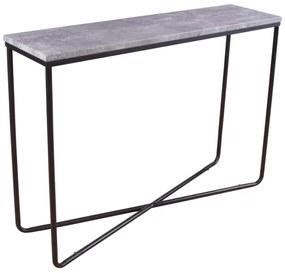 Palace konzolový stolík (betón/čierna)