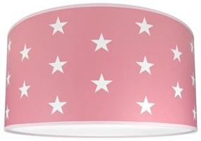 Lampdar Detské stropné svietidlo STARS PINK 2xE27/60W/230V ružová SA0664