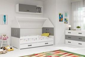 Domčeková posteľ DOMI 160x80cm - Biela - Grafitová