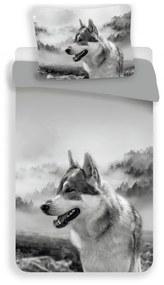 MKLuzkoviny.cz 3D Obliečky – Wolf 140x200/70x90cm