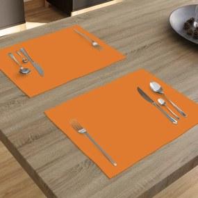 Goldea bavlnené prestieranie na stôl - oranžové - sada 2ks 30 x 40 cm