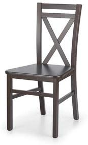 HALMAR Dariusz 2 jedálenská stolička tmavý orech