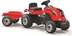 SMOBY Šliapací traktor s vozíkom Farmer XL, červený
