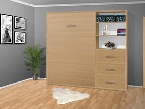Nabytekmorava Sklápacia posteľ VS 2054 P - 200x120 cm nosnost postele: štandardná nosnosť, farba lamina: buk 381