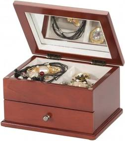 Drevená šperkovnica Mele&Co. Lindsay Floral Mahogany