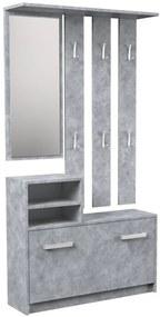 Shoptop Předsíňová stěna GAR šedá
