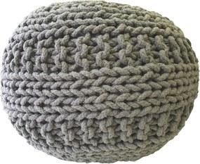 KUDOS Textiles Pvt. Ltd. MEGA AKCE: Sedací vak TEA POUF 30 tmavě šedý - 40x40x35 cm