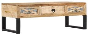 vidaXL Konferenčný stolík 110x50x38 cm masívne mangovníkové drevo