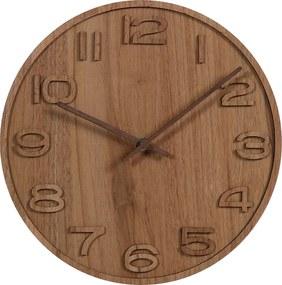 ČistéDrevo Nástenné hodiny drevené VI