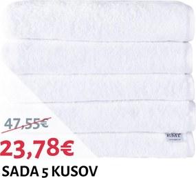 Sada osušky bavlnené biele 5 ks 70 x 140 cm EMI