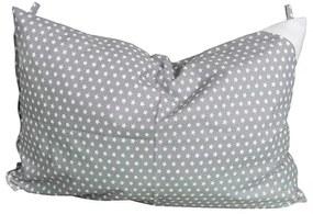 Eva Kiedroňová Nezaradené Obliečka na vankúš sivá s hviezdičkami - 60x40 cm Sivá  