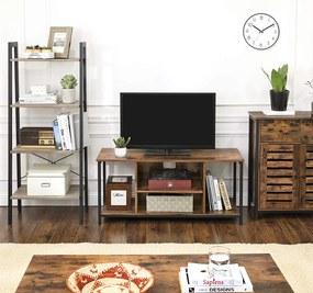 SONGMICS Televízny stolík industriálny 2 police 110 x 40 cm