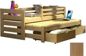 FA Detská posteľ Veronika 7 (180x80 cm) s prístelkou - viac farieb Farba: Dub