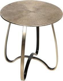 Hliníkový odkladací stolík Delight, 51 cm, champagne