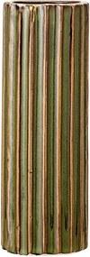 Zelená váza z kameniny Bloomingville Stripes, výška 15 cm