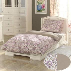 Kvalitex Bavlnené obliečky Provence Narista béžová, 140 x 200 cm, 70 x 90 cm