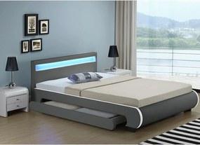 Čalúnená posteľ Bilbao 180x200 cm - sivá