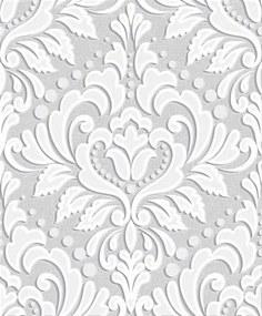 Vliesové tapety, zámocký vzor biely, Allure 361634, IMPOL TRADE, rozmer 10,05 m x 0,53 m