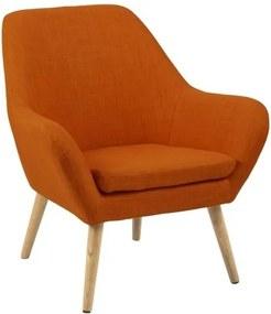 Designové křeslo Atilla, oranžová SCHDN0000058632 SCANDI