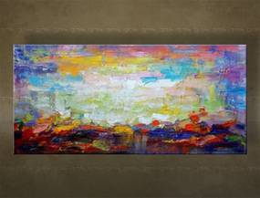 Ručne maľovaný obraz na stenu ABSTRAKT FB506E1