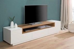 TV stolík Sarah I / biela - dub