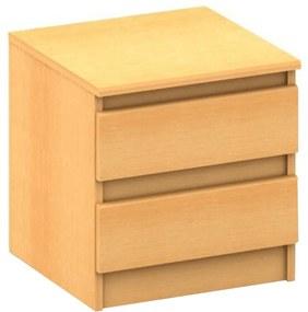 2 šuplíkový nočný stolík, buk, HANY NEW 002
