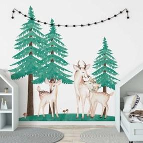 lovel.sk Nálepky na stenu Forest - jelenčeky