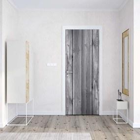 GLIX Fototapeta na dvere - Wood Plank Texture Grey