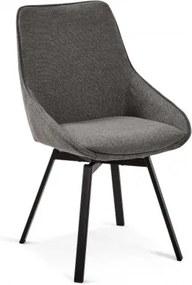 HASTON otočná stolička Sivá - tmavá