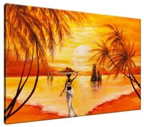 Ručne maľovaný obraz Pokojná chvíľa 120x80cm RM1779A_1B