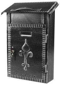 Poštová schránka FM-645 čierna matná, 380 x 230 x hĺbka 80 mm