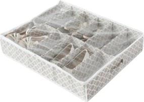 Béžový úložný box na topánky pod posteľ Compactor, dĺžka 76 cm