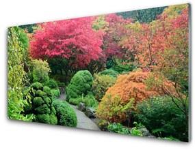 Nástenný panel Záhrada kvetina strom príroda 125x50cm
