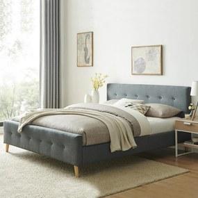 Čalúnená posteľ Catini FINSTA - sivá