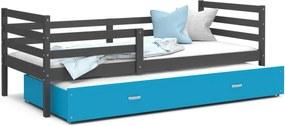 GL Racek P2 posteľ s prístelkou sivá Farba: Modrá, Rozmer: 190x80