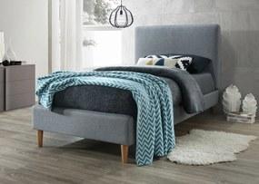 Čalúnená posteľ ACOMA 90x200 cm sivá Matrac: Bez matrace