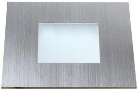 KapegoLED 686940 Zápustné LED svietidlo, 12V DC, 0.6W, 30lm, 4500K, IP20, 70x70x6.5mm, brúsený hliník
