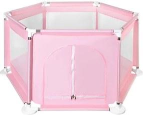 ISO Textilné ohrádka pre deti 115 x 65 cm, ružová, 8493