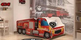 Auto posteľ Požiarne auto 140x70 č.1