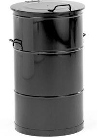 Kovová nádoba na horľavý odpad Liston, 115 L, čierna