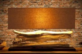 Stolná lampa z naplaveného dreva Lake béžová