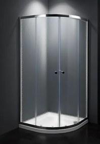 Sprchový kút štvrťkruh 80x80x185 cm Multi Basic chróm lesklý SIKOMUS80CRCH